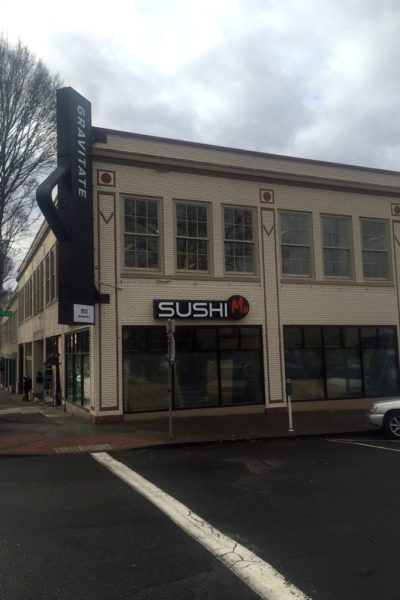 A new Sushi restaurant is set to open in March on the ground level of a downtown building at 11th and Washington streets that houses the Gravitate digital marketing and design company. The first for space of what once was Koplans Home Furnishings has been vacant for years. (Gordon Oliver/The Columbian)